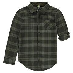 Junior - Chemise à carreaux avec manches rétractables