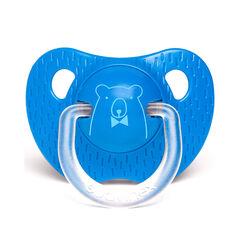 Sucette physiologique en silicone 18m+ - Ours bleu foncé