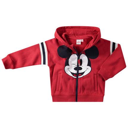 Vest met kap van molton met print van Disney's Mickey