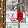 Lot de 2 bodies manches longues motif esprit Noël