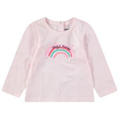 T-shirt met lange mouwen uit jerseystof met fantasieprint