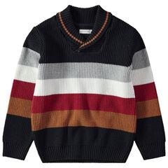 Pull rayé en tricot à larges bandes contrastées