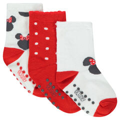 Lot de 3 paires de chaussettes assorties motif Minnie ©Disney
