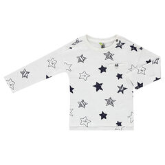 Tee-shirt manches longues en jersey avec étoiles all-over