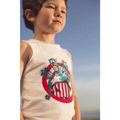 Débardeur en jersey avec print Marvel Captain America