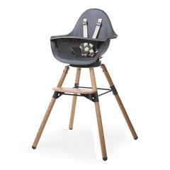 Chaise haute Evolu One.80° 2 en 1 avec arceau - Naturel/Anthracite