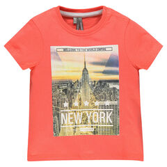 T-shirt korte mouwen in jersey dinosaurusprint
