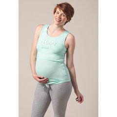 Bovenstuk in de vorm van een tanktop van zwangerschaps- en borstvoedingspyjama