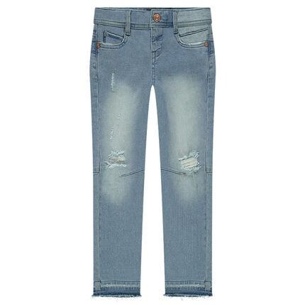 Junior - Skinny jeans met used effect