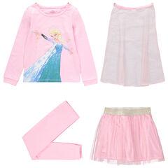 Pyjama en jersey 4 pièces La Reine des neiges Disney