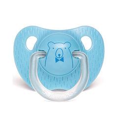 Sucette physiologique en silicone 0-6 mois - Ours bleu