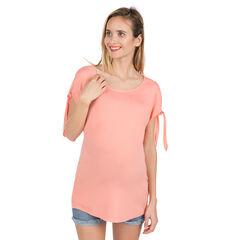 Zwangerschapstuniek met opengewerkte schouders