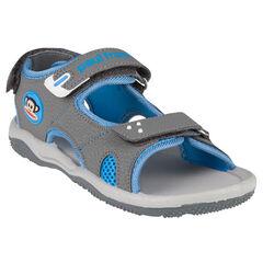 Open schoenen in rubber patch