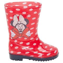 """Rubberen regenlaarzen met bolletjes """"all-over"""" Disney Minnie van 20 tot 23"""