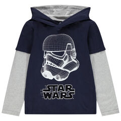 Junior - T-shirt met lange mouwen met kap en print van Star Wars Stormtrooper