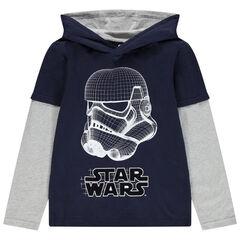 Junior - T-shirt manches longues à capuche print Stormtrooper Star Wars