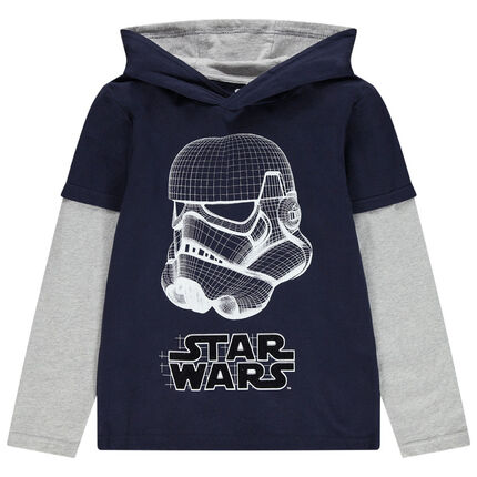 Junior - T-shirt manches longues à capuche print Stormtrooper Star Wars