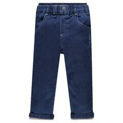 Pantalon en molleton effet jeans