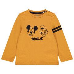 T-shirt manches longues en coton bio print Mickey et Donald Disney