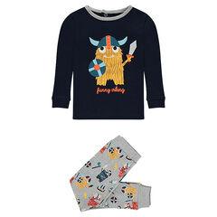 Pyjama van jerseystof in twee delen met vikingprint