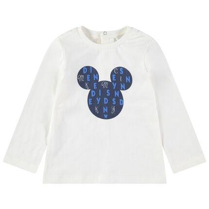 T-shirt manches longues en jersey avec serti Mickey Disney printé
