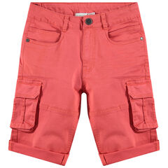 Junior - Bermuda en coton surteint à poches