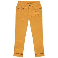 Pantalon coupe slim 5 poches pour enfant garçon , Orchestra