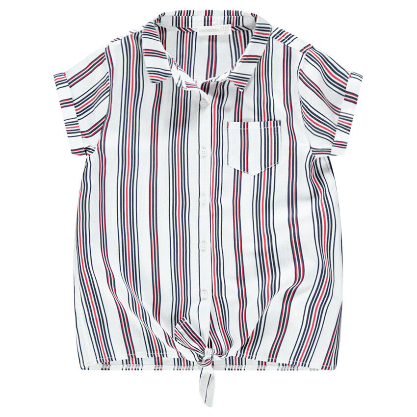 Courtes Poche Et Chemise Junior À Xchdtrsq Rayures Manches Verticales HED2YW9I