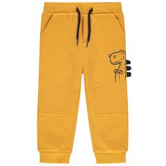 Pantalon de jogging en molleton uni jaune print dinosaure , Orchestra