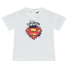 Tee-shirt en coton organique avec print Superman ©Warner