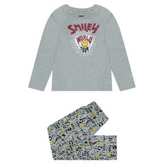 Pyjama en jersey avec prints Smiley