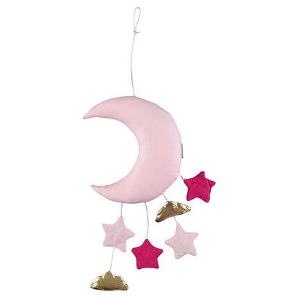 Gewatteerde mobiel in de vorm van de maan met kleine accessoires
