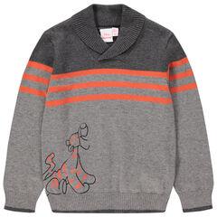 Trui van tricot met contrasterende strepen en print van Disney's Teigetje
