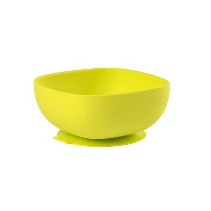 Kom in siliconen met zuignap - Groen