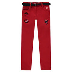 Pantalon en twill Disney avec broderies Minnie
