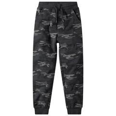Junior - Pantalon de jogging en molleton imprimé army all-over