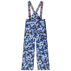 Junior - Pantalon de ski imprimé all-over à bretelles amovibles