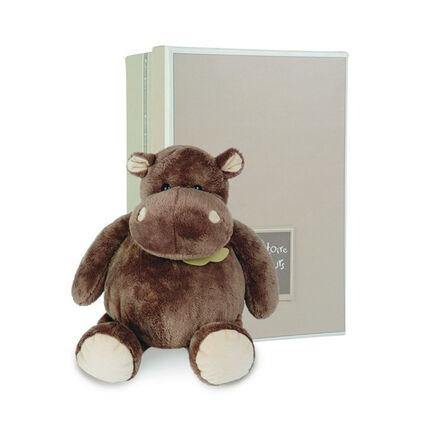 Knuffel Hippo 23cm - Bruin