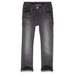 Jeans en molleton effet denim