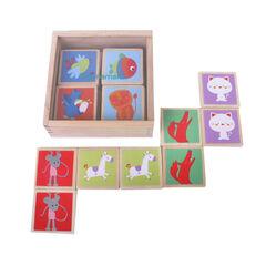 Speelgoed-strategie reflectie houten geheugenspel 32 stk