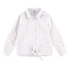 Junior - Hemd met lange mouwen, fijne streepjes en knooplinten