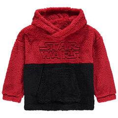 Sweat en sherpa bicolore avec broderie Star Wars
