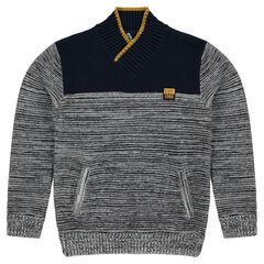Pull en tricot mélangé avec poches