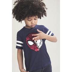 T-shirt met korte mouwen met Spiderman-motief van magische lovertjes