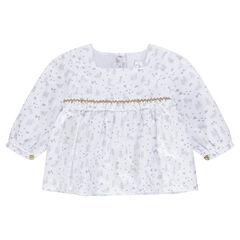 Tunique en coton doublé avec motif all-over