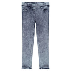 Jegging van like denim met used effect