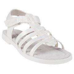Open schoenen in witte kleur paarlemoer