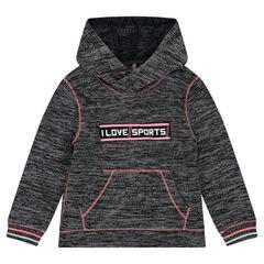 Sweat de sport à capuche en tricot fantaisie