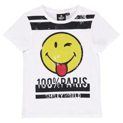 Tee-shirt manches courtes avec print ©Smiley Paris
