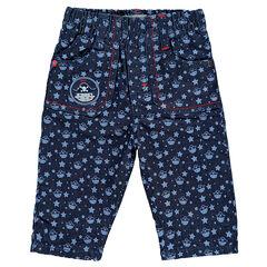 Jeans met print met piraten en sterren.